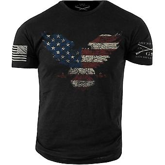 Grunt Style Freedom Eagle T-Shirt - Black