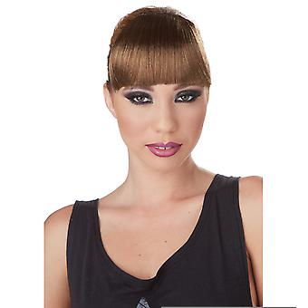 Clip-On Bangs Brown Vixen Celebrities Super Model Women Costume Wig