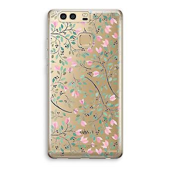Huawei P9 gjennomsiktig sak (myk) - delikat blomster