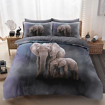 Elephant Family Duvet Cover Bedding Set