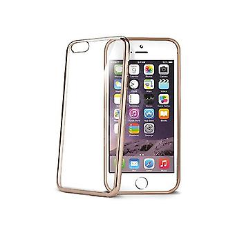 Celly zachte transparante Laser Cover voor iPhone 6/6S - goud