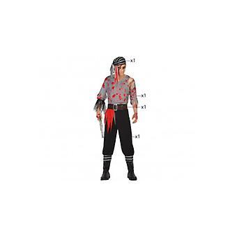 Mænd kostumer mænd pirat zombie halloween kostume
