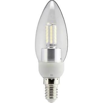 Sygonix LED (monochroom) EEC A+ (A++ - E) E14 Kaars 4 W = 40 W Warm wit (Ø x L) 35 mm x 112 mm 1 pc(s)