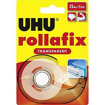 UHU rollafix 36965 Tape Transparent (L x W) 25 m x 19 mm 25 m