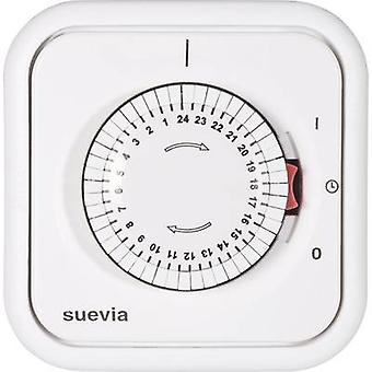 Suevia 348.002 Flush Mount Timer/Power Strip analog 24h Modus 2200 W IP20