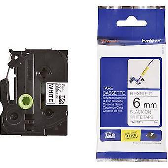 Merking tape (fleksibel) bror TZe-FX, TZ-FX TZe-FX211 Tape farge: hvit skrift farge: svart 6 mm 8 m
