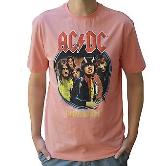 Amplified AC/DC Highway To Hell Mellow Rose Crew Neck T-Shirt XL