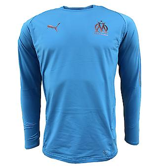 2018-2019 Olympique Marseille Puma Training Sweat Top (Blue)