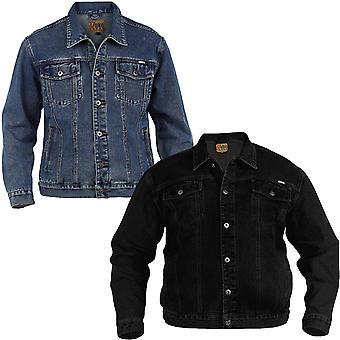 Hertug D555 London vestlig stil Trucker store høye pluss konge størrelse Denim jakke