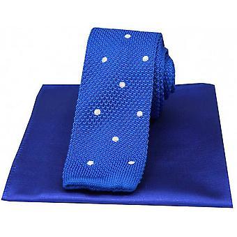 David Van Hagen laikullinen ohut neulottu silkki solmio ja tavallinen nenäliina Set - valkoinen