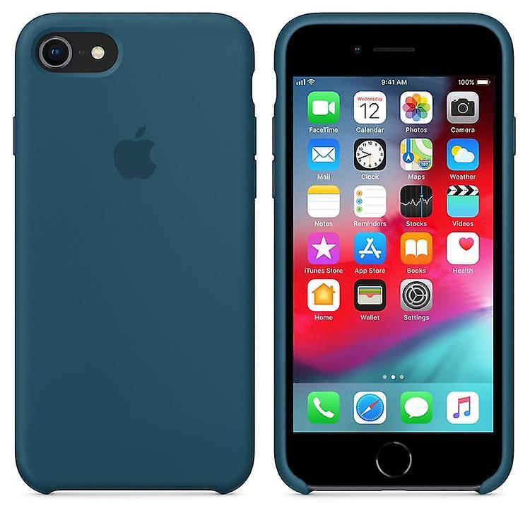 Original packaging Apple silicone Micro Fiber cover case for iPhone 8 / 7 - Cosmos Blau