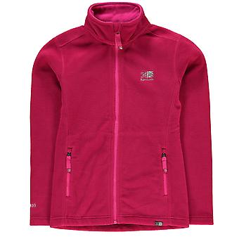 Karrimor Kids Fleece jas Junior meisjes thermische Warming-Up hoge hals Full Zip Top