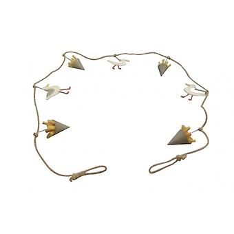 Shoeless Joe Seagull and Chips Nautical Garland