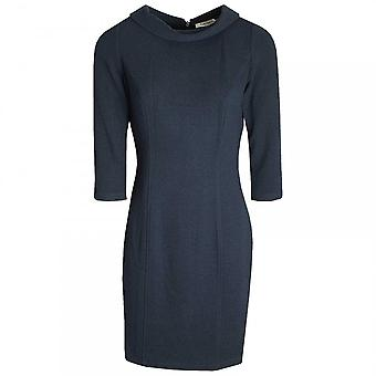 ベティ バークレー ロール カラー テクスチャのシフト ドレス