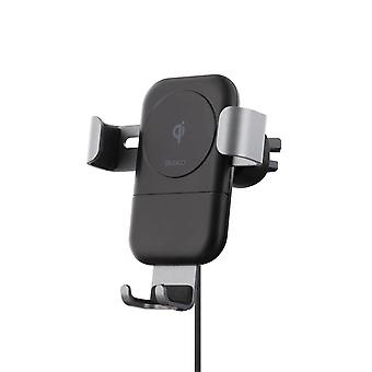 DELTACO Wireless Quick charger for car, Qi certified, 10W, Qi