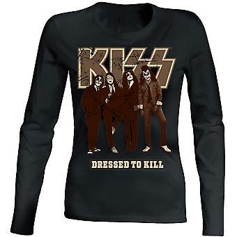 Beijo - vestido para matar mulheres t-shirt de manga comprida