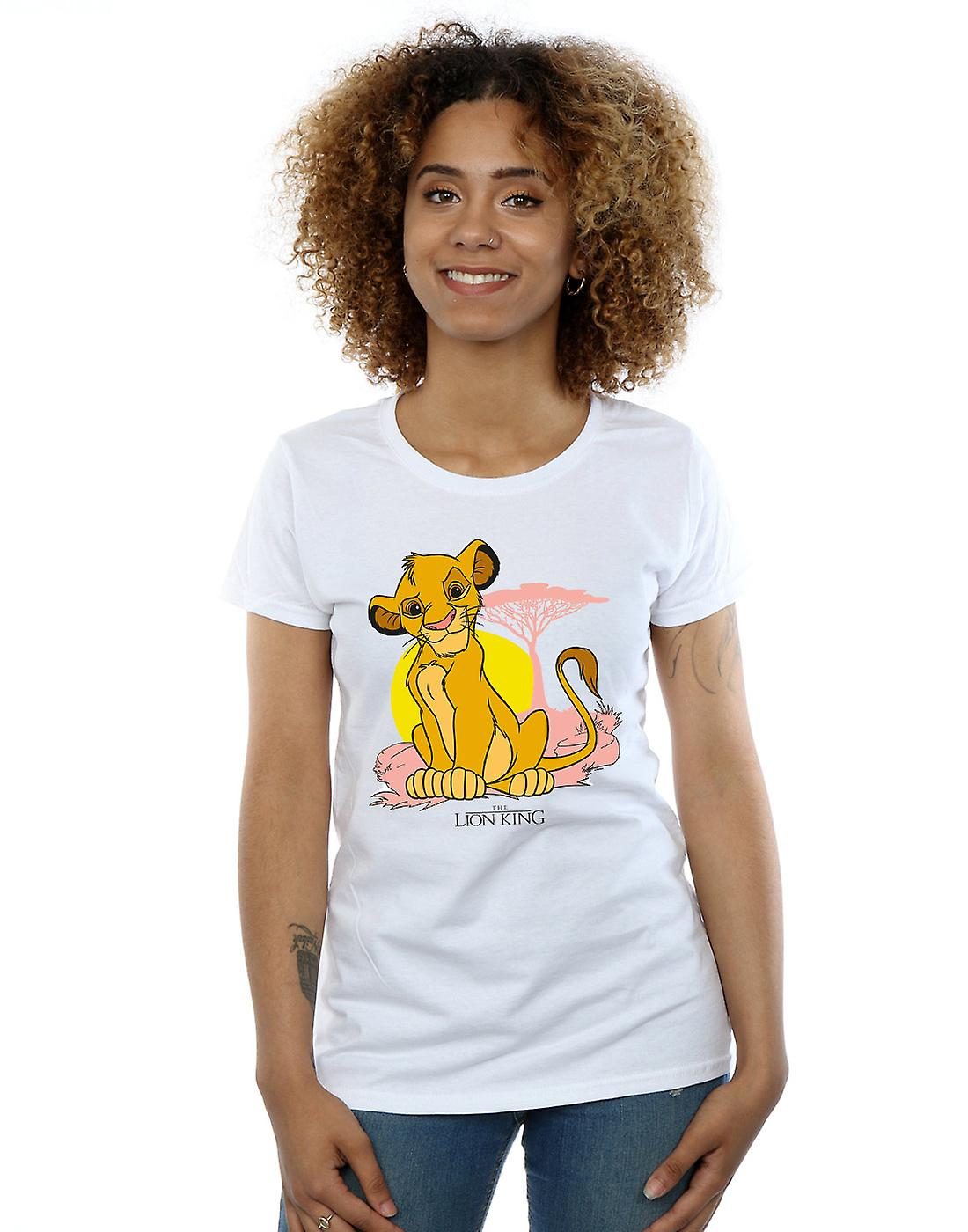 Disney Women's The Lion King Simba Pastel T-Shirt