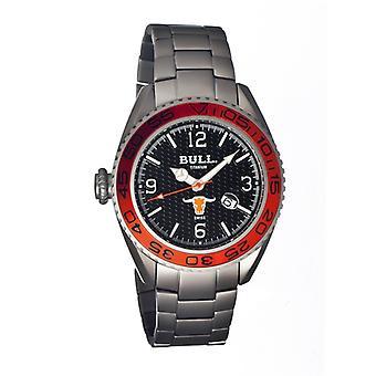 Bull Titanium Hereford Men's Swiss Bracelet Watch - Black