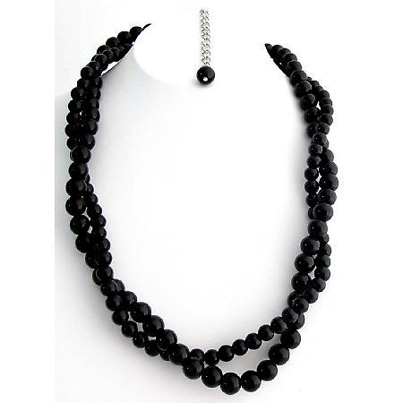 svarta pärlor halsband