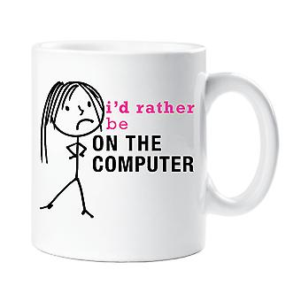 Ladies I'd Rather Be On The Computer Mug