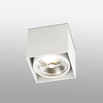 Faro - Tecto Ar111 hvid firkant enkelt Spotlight FARO63274