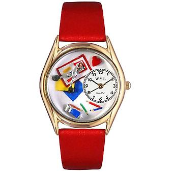 Whimsical Watches C-0410002-unisex wristwatch leather, color: multicolor
