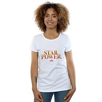 女子キャプテン マーベル スター パワー t シャツを驚嘆します。