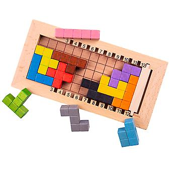 Bigjigs Toys Wooden Lock a Block Puzzle Game