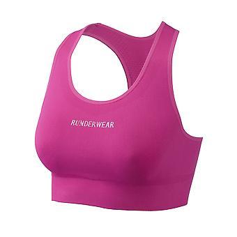 السيدات المرأة رونديروير تشغيل المحاصيل الأعلى الرياضة الصدرية الوردي