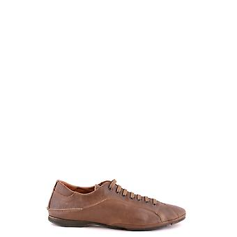 Costume National Ezbc066041 Men's Brown Leather Sneakers