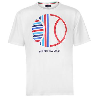 Sergio Tacchini Mens Zoste T Shirt Crew Neck Tee Top Short Sleeve Cotton Print