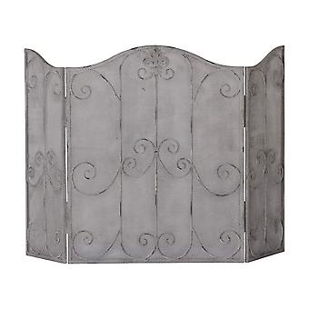Antique Firescreen With Scroll Detailing