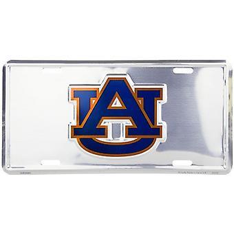 Auburn Tigers NCAA silver spegel registrerings skylt