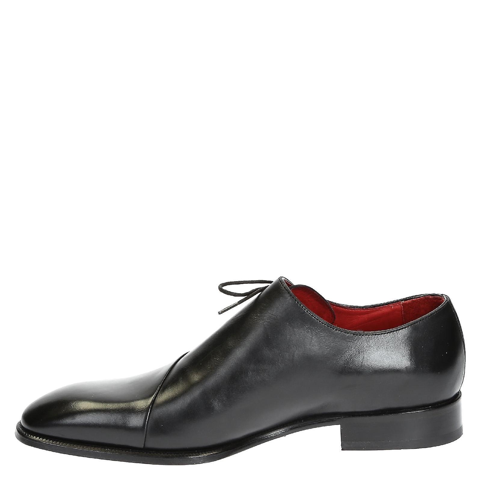 Leonardo Shoes 0688514221formascamontecarlone Men's Black Leather Lace-up Shoes
