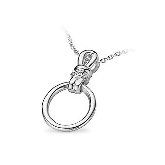 PENDANT WITH CHAIN 925 SILVER ZIRCONIUM
