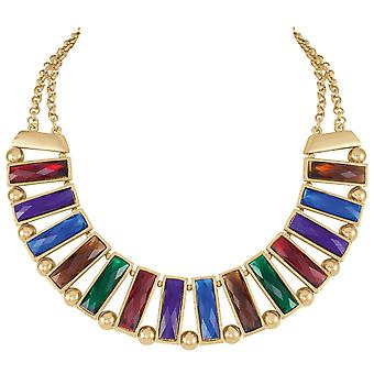 Eternal Collection Panorama Rainbow Crystal Tone Necklace