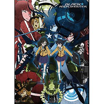 Fabric Poster - Black Rock Shooter - New Collage (Wall Art) Licensed ge77656