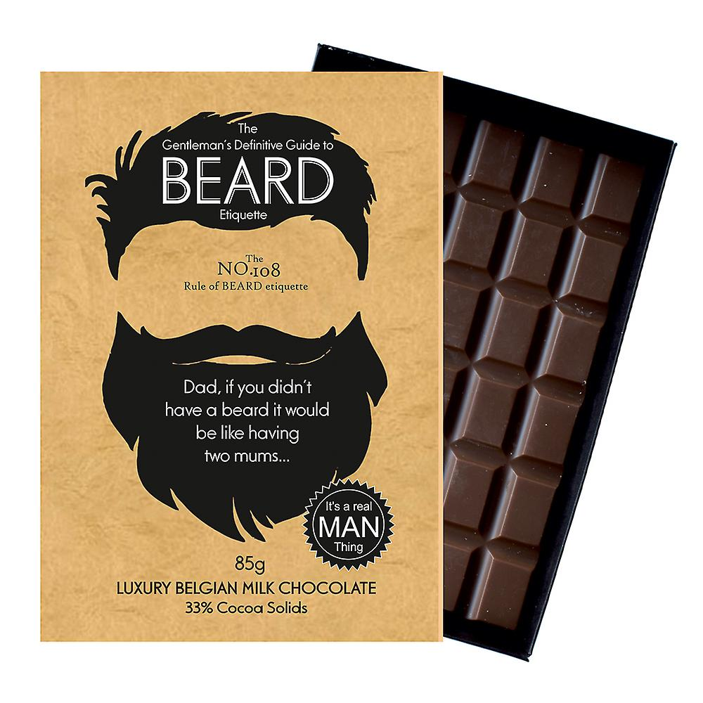 Funny Gifts For Bearded Men Beard Lover Present Chocolate Greeting Card Oncocoa BTQ108