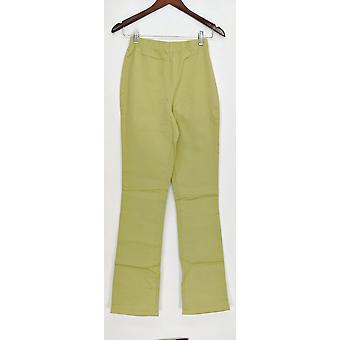 Denim & Co. leggings høj stretch støvle skåret blad grøn A01725