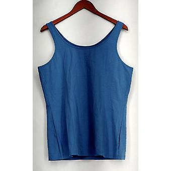 H by Halston Top Knit Scoop Neck Sleeveless Tank Blue A272282