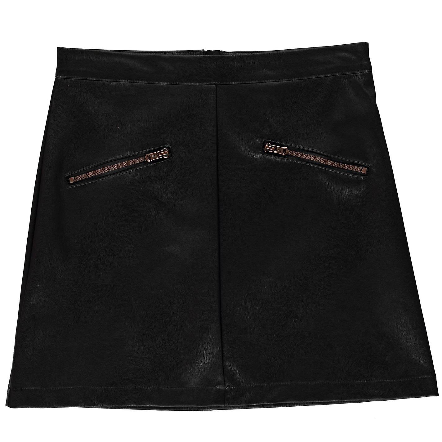 Firetrap Girls PU Mini Skirt Junior Kids