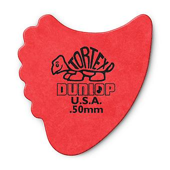 6 Jim Dunlop All In One Fins Guitar Picks/Plectrums - Red Medium 0.60mm