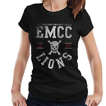 East Mississippi Community College Light Lions Skull Logo Women's T-Shirt
