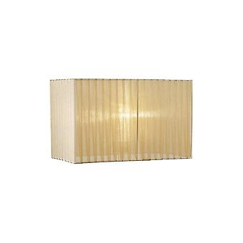 Diyas Florence Rectangle Organza Shade, 380x190x230mm, Soft Bronze, For Table Lamp