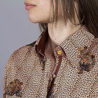 CLAUDIO LUGLI Leopard Print Ladies Shirt