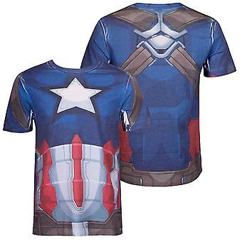 Capitão América traje sublimated Men ' s T-shirt