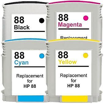 88XL Remanufactured Inkjet Cartridge Set  4 Cartridges