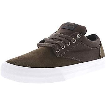Supra Men's Chino Brown/White Ankle-High Skateboarding Shoe - 10M