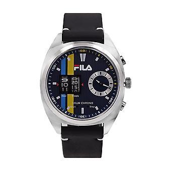 Fila Men's Watch Wristwatch DRUM ROLLER 38-844-002 Leather