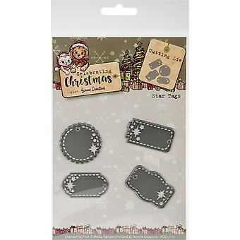 Find It Trading Yvonne Creations Die-Star Tags, Celebrating Christmas